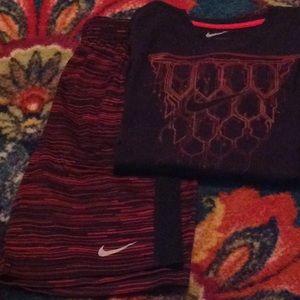 Nike Dri-Fit Basketball Shorts and Shirt.